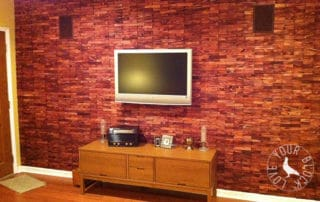 DIY Shim Wall Covering